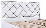 Кровать Двуспальная Richman Мелисса 160 х 190 см Флай 2200 С подъемным механизмом и нишей для белья Белая, фото 7