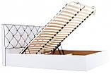 Кровать Двуспальная Richman Мелисса 160 х 190 см Флай 2200 С подъемным механизмом и нишей для белья Белая, фото 8