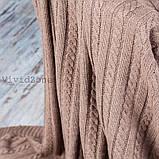 Покрывало вязаное КЛАССИК 200x210 капучино Vividzone (бесплатная доставка), фото 5