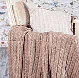 Покрывало вязаное КЛАССИК 200x210 капучино Vividzone (бесплатная доставка), фото 3