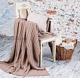 Покрывало вязаное КЛАССИК 200x210 капучино Vividzone (бесплатная доставка), фото 2