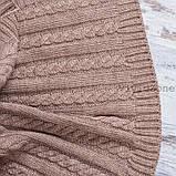 Покрывало вязаное КЛАССИК 200x210 капучино Vividzone (бесплатная доставка), фото 4
