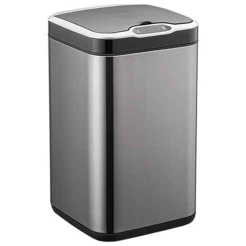 Сенсорне відро для сміття JAH 7 л квадратне темно-срібний металік з внутрішнім відром