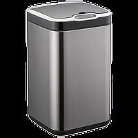 Сенсорне відро для сміття JAH 7 л квадратне темно-срібний металік з внутрішнім відром, фото 1