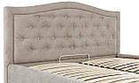 Кровать Двуспальная Richman Скарлетт 160 х 190 см Мисти Mocco Бежевая, фото 6