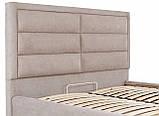 Кровать Двуспальная Richman Орландо 180 х 200 см Мисти Mocco С подъемным механизмом и нишей для белья Бежевая, фото 6