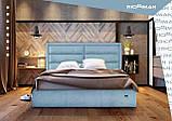 Кровать Двуспальная Richman Орландо 180 х 200 см Мисти Mocco С подъемным механизмом и нишей для белья Бежевая, фото 9