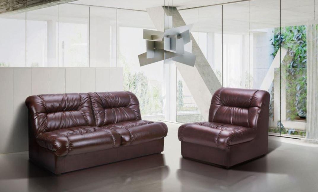 Диван Richman Визит Единица + Двойка 870 x 2500 x 850H см Титан Dark Brown Коричневый