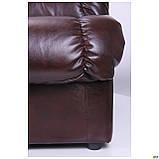 Диван Richman Визит Единица + Двойка 870 x 2500 x 850H см Титан Dark Brown Коричневый, фото 3