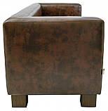 Диван Richman Спейс Двойка 760 x 1500 x 730H см Титан Dark Brown Коричневый, фото 3