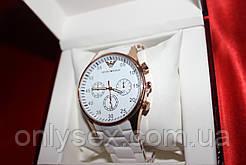Наручний годинник Emporio Armani копія White