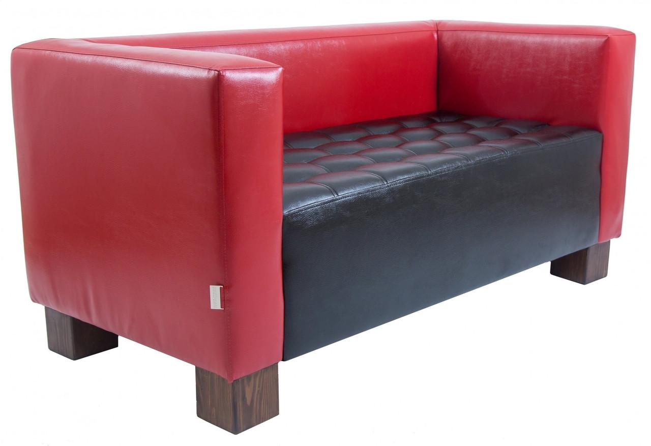 Диван Richman Спейс Двойка 760 x 1500 x 730H см Boom 16/24 Красный + Черный