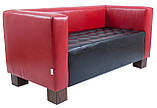 Диван Richman Спейс Тройка 760 x 2100 x 730H см Boom 16/24 Красный + Черный, фото 2