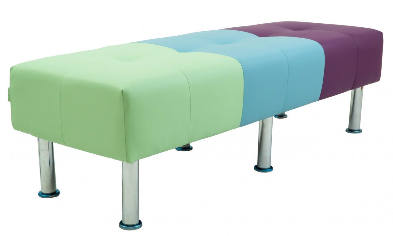 Диван Richman Офис Двойка 1550 x 680 x 450H см Флай 2228/2220/2216 Сливовый/Голубой/Зеленый