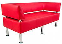 Диван Richman Офис Двойка 1550 x 680 x 750H см Со спинкой и подлокотниками Флай 2210 Красный
