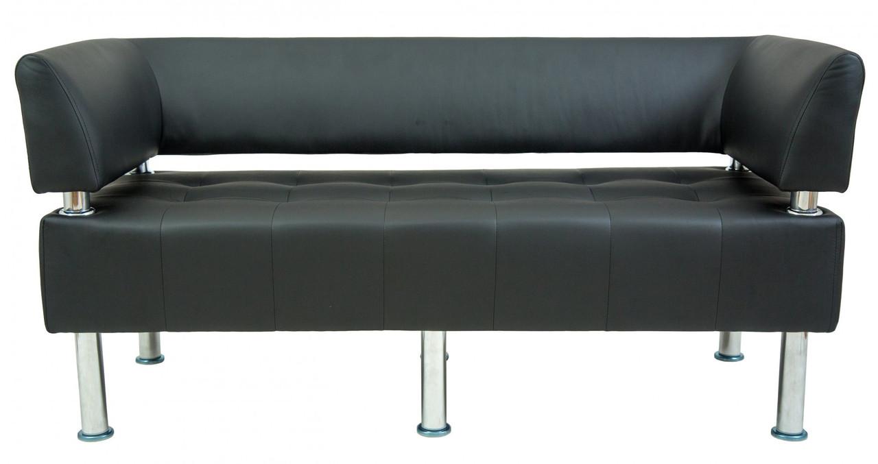 Диван Richman Офис Двойка 1550 x 680 x 750H см Со спинкой и подлокотниками Флай 2230 Черный