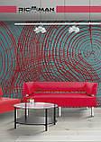 Диван Richman Офис Двойка 1550 x 680 x 750H см Со спинкой и подлокотниками Флай 2230 Черный, фото 3