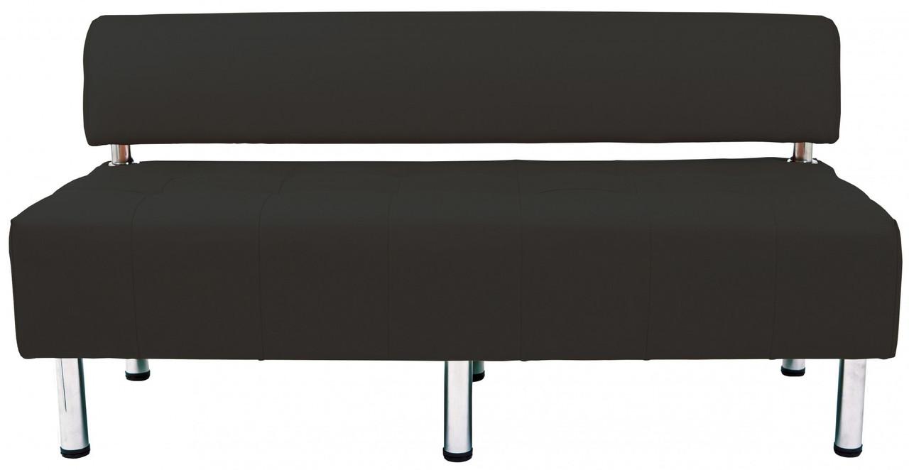 Диван Richman Офис Двойка 1550 x 680 x 750H см Со спинкой Флай nova Black 2230 Черный