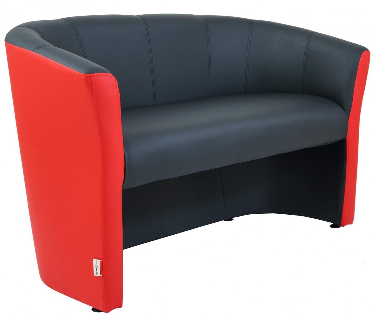 Диван Richman Бум Двойка 650 x 1300 x 800H см Флай 2230/2210 Красный + Черный