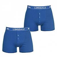 Трусы Lonsdale Lonsdale 2 Pack Boxers Blue - Оригинал, фото 1