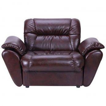Кресло Visit С подлокотниками Титан Dark Brown Коричневое