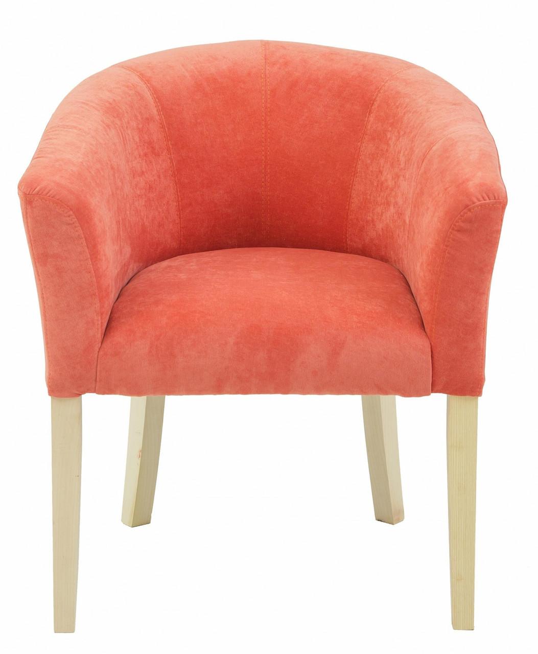 Кресло Richman Версаль 65 x 65 x 75H Кордрой 204 Оранжевое