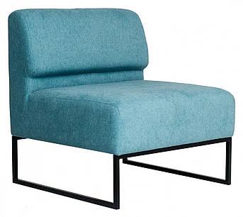 Кресло Lounge со спинкой 770 x 770 x 830H см Голубое