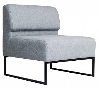 Кресло Lounge со спинкой 770 x 770 x 830H см Серое