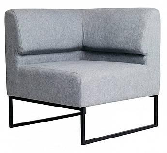 Кресло Lounge Угол со спинкой 770 x 770 x 830H см Серое