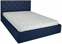 Кровать Richman Бристоль VIP 120 х 190 см Флай 2227 С дополнительной металлической цельносварной рамой Синяя