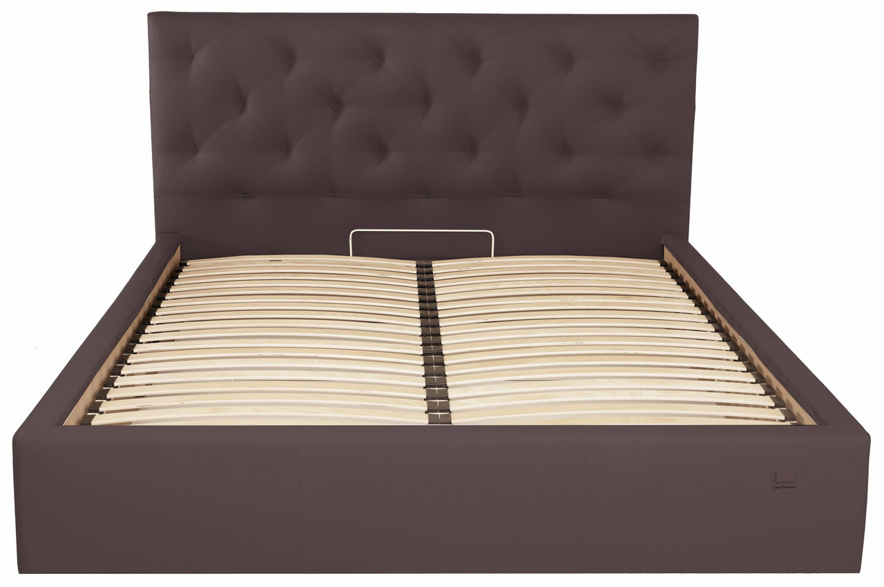 Кровать Bristol VIP 120 х 190 см Fly 2231 С дополнительной металлической цельносварной рамой Темно-коричневая