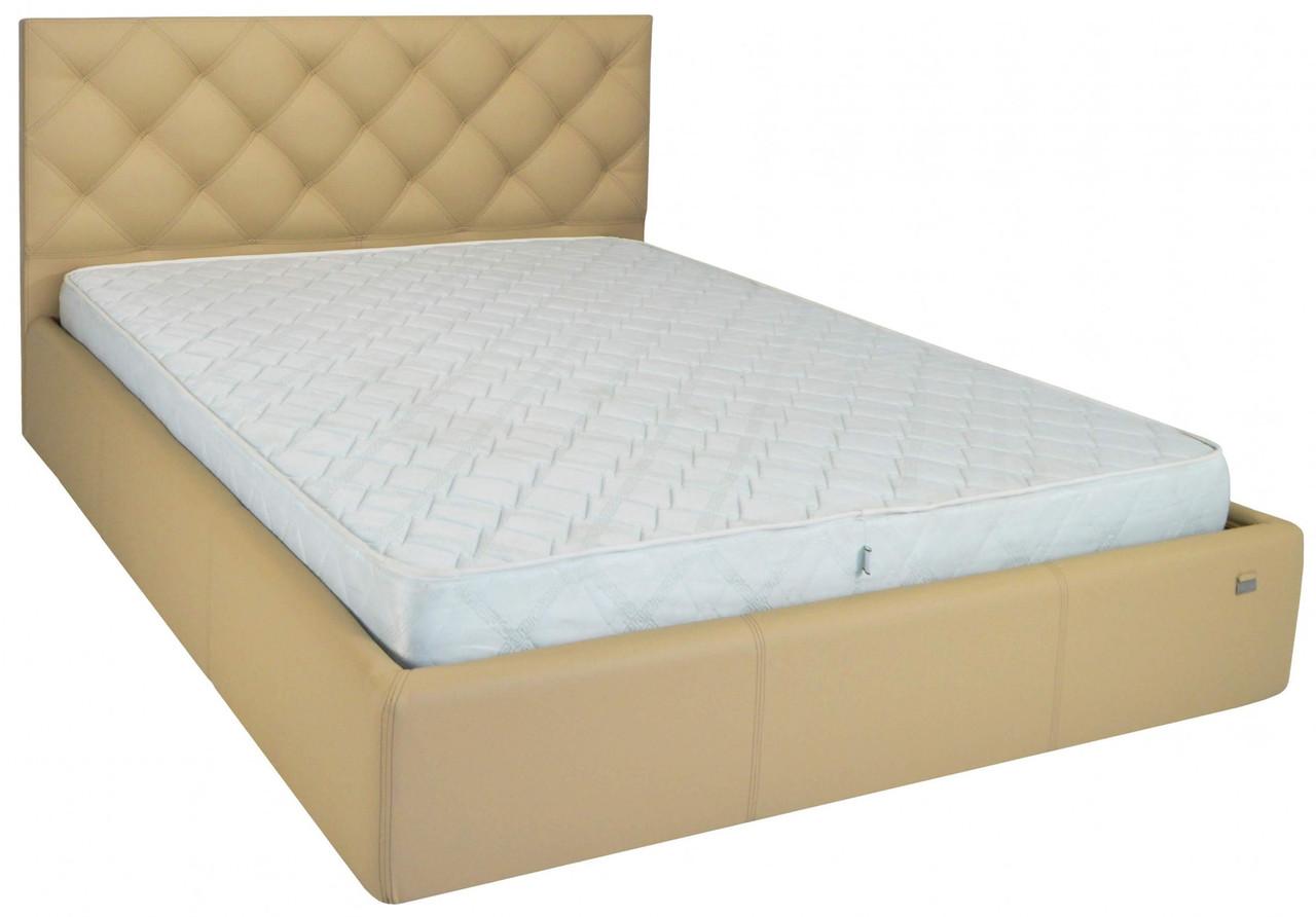 Кровать Richman Бристоль VIP 120 х 190 см Флай 2238 С дополнительной металлической цельносварной рамой Бежевая