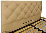 Кровать Richman Бристоль VIP 120 х 190 см Флай 2238 С дополнительной металлической цельносварной рамой Бежевая, фото 3