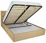 Кровать Richman Бристоль VIP 120 х 190 см Флай 2238 С дополнительной металлической цельносварной рамой Бежевая, фото 4