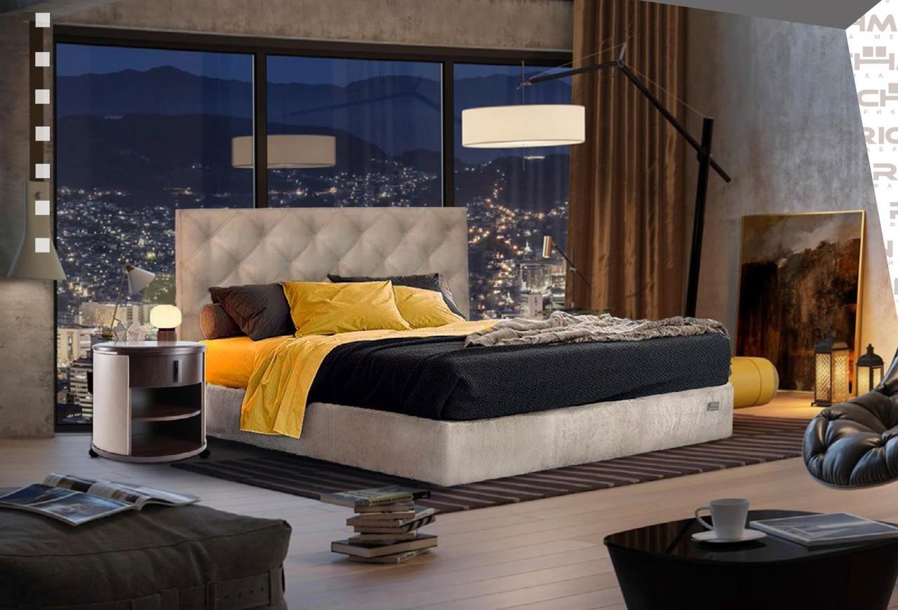 Кровать Richman Бристоль VIP 120 х 200 см Мисти Milk С дополнительной металлической цельносварной рамой