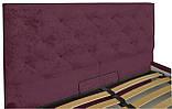 Кровать Richman Бристоль VIP 140 х 190 см Алексис Bordo 07 С дополнительной металлической цельносварной рамой, фото 3