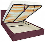 Кровать Richman Бристоль VIP 140 х 190 см Алексис Bordo 07 С дополнительной металлической цельносварной рамой, фото 4