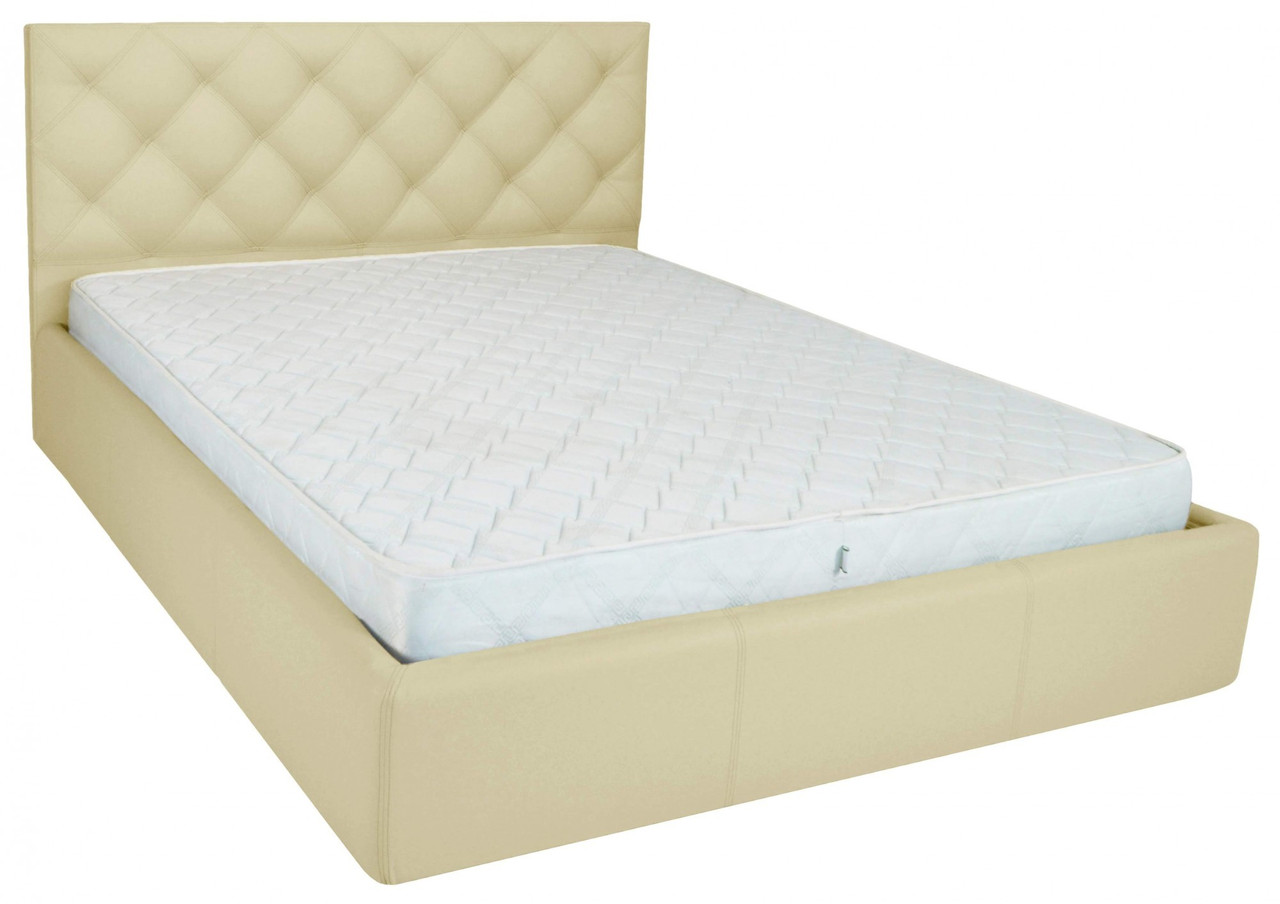 Кровать Bristol VIP 140 х 190 см Fly 2207 A1 С дополнительной металлической цельносварной рамой Бежевая