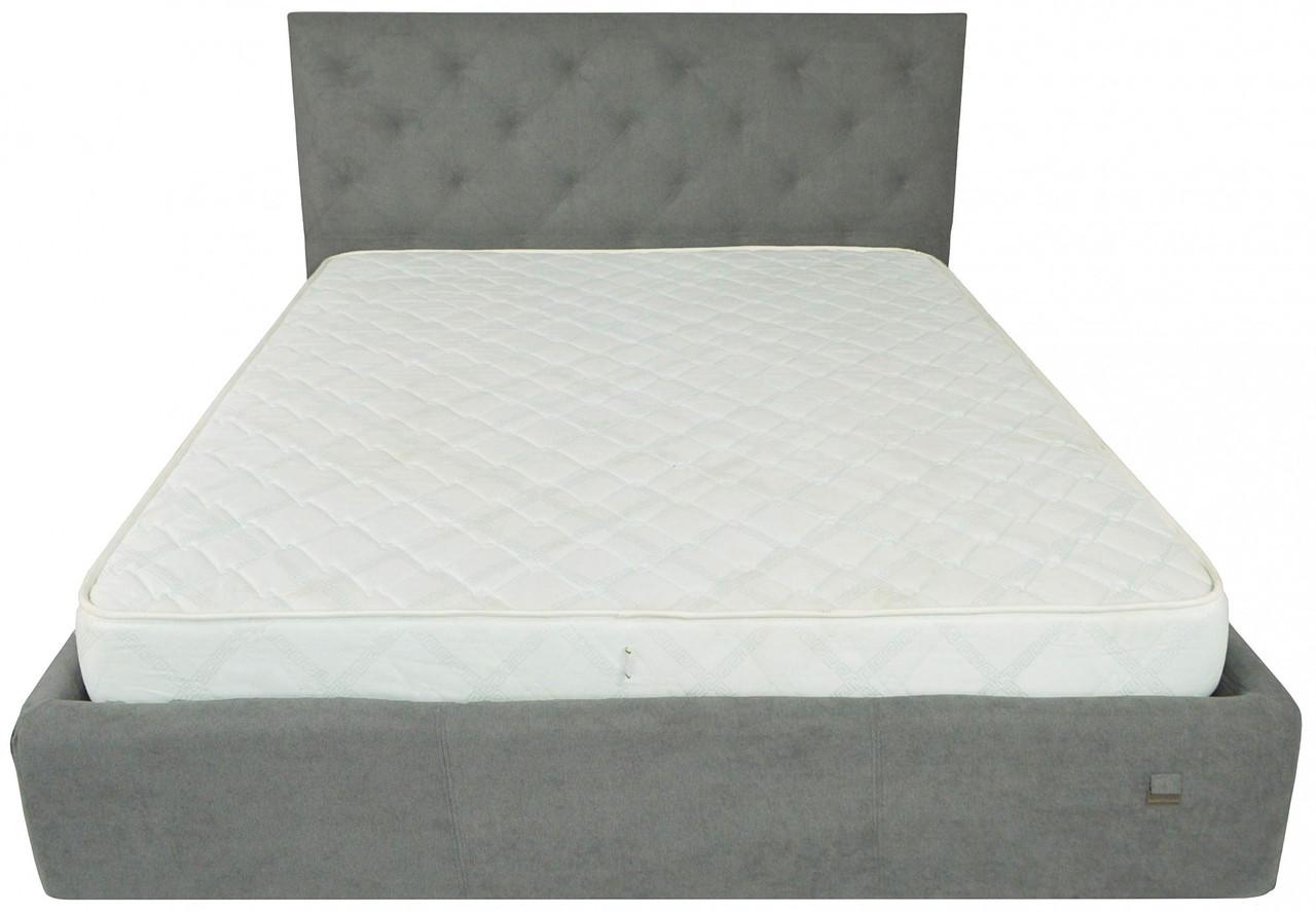 Кровать Richman Бристоль VIP 140 х 200 см Aston 16 С дополнительной металлической цельносварной рамой Серая