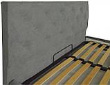 Кровать Richman Бристоль VIP 140 х 200 см Aston 16 С дополнительной металлической цельносварной рамой Серая, фото 3