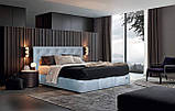 Кровать Richman Бристоль VIP 140 х 200 см Aston 16 С дополнительной металлической цельносварной рамой Серая, фото 7