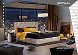 Кровать Richman Бристоль VIP 140 х 200 см Aston 16 С дополнительной металлической цельносварной рамой Серая, фото 8