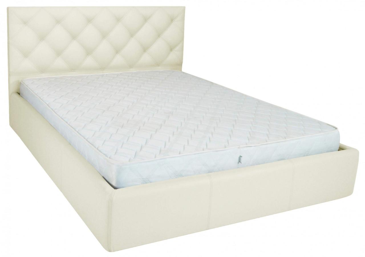 Ліжко Richman Брістоль VIP 140 х 200 см Флай 2200 A1 З додаткової металевої суцільнозварний рамою Біла