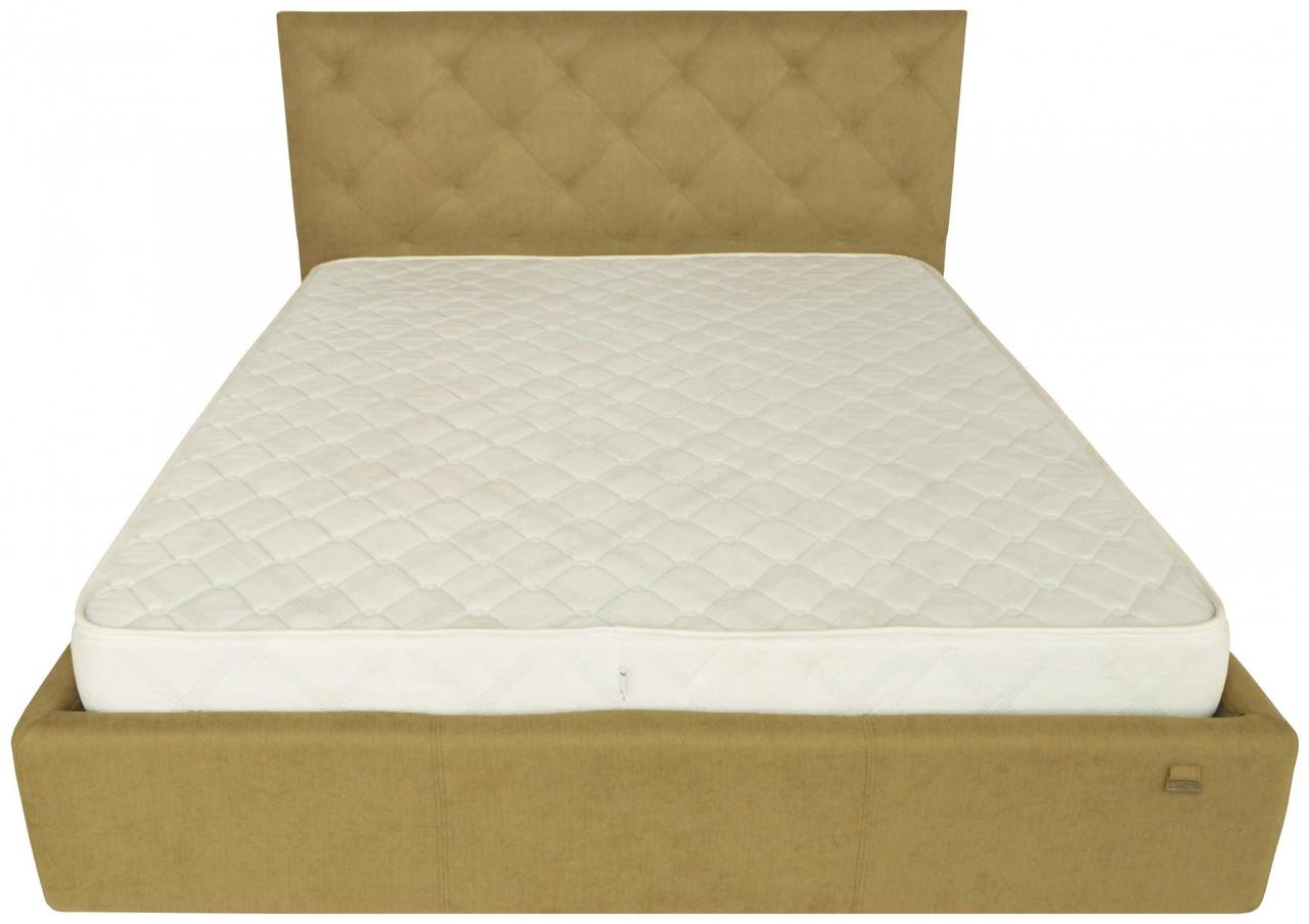 Ліжко Richman Брістоль VIP 140 х 200 см Fibril 17 З додатковою металевою рамою суцільнозварний