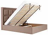 Кровать Richman Виндзор VIP 140 х 190 см Флай 2213 С дополнительной металлической цельносварной рамой Светло-коричневая, фото 7