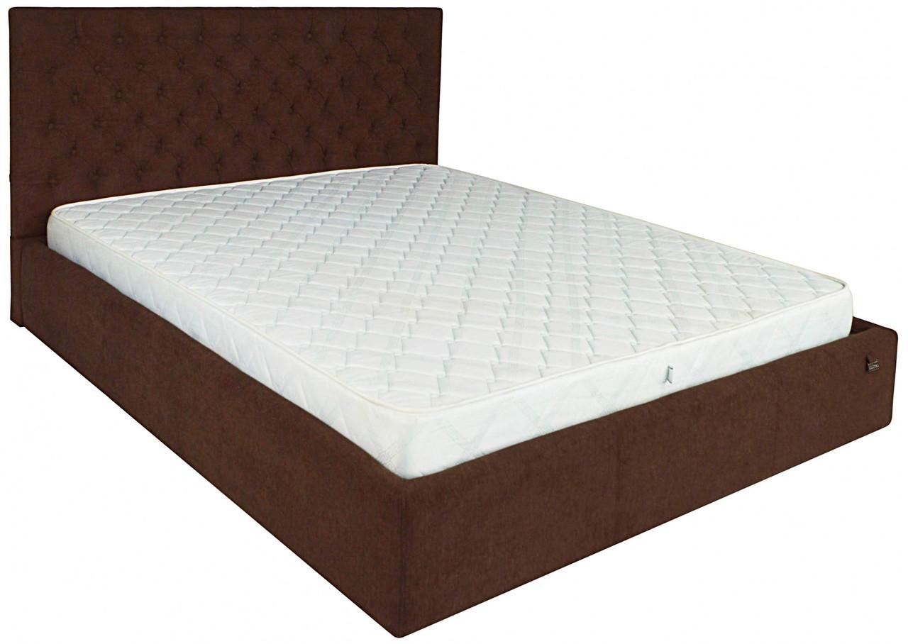 Ліжко Richman Кембридж VIP 120 х 190 см Місті Chocolate З додаткової металевої суцільнозварний рамою Темно-коричнева