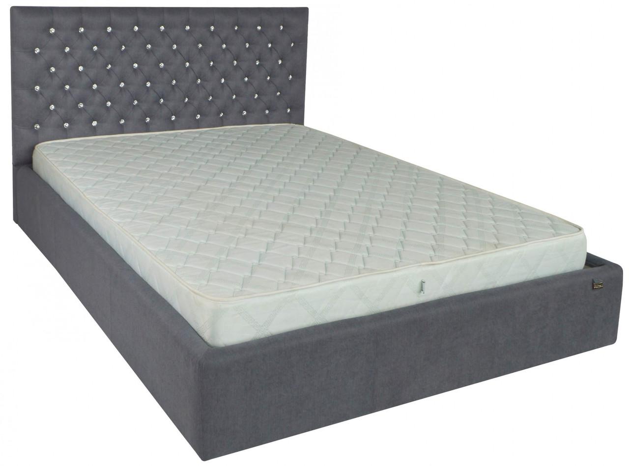 Кровать Cambridge VIP 120 х 200 см Fibril 16 С1 С дополнительной металлической цельносварной рамой Темно-серая