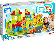 Мега Блокс Конструктор 120 деталей Mega Bloks Build and Learn Math Building Set, фото 7