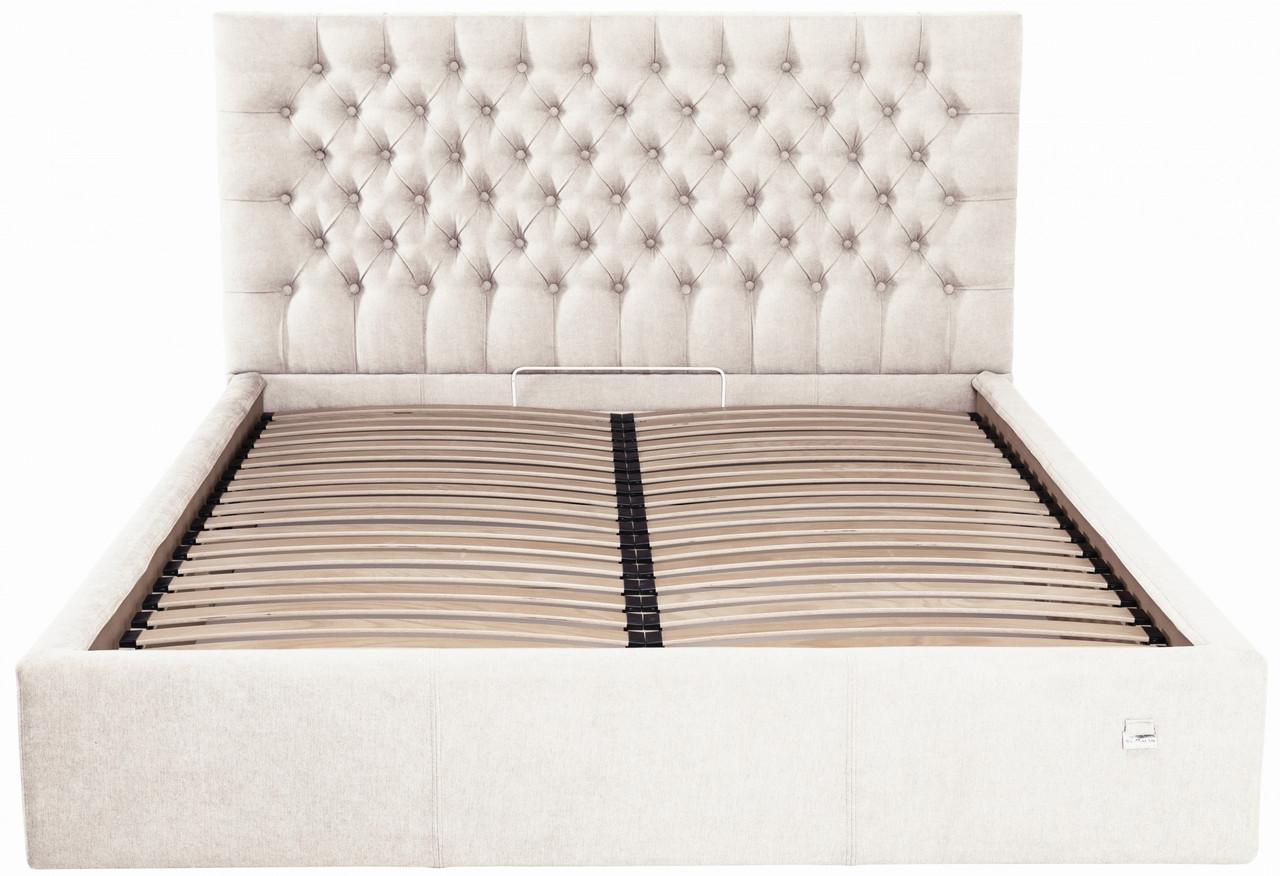 Ліжко Richman Кембридж VIP 120 х 200 см Місті Milk З додаткової металевої суцільнозварний рамою Бежева