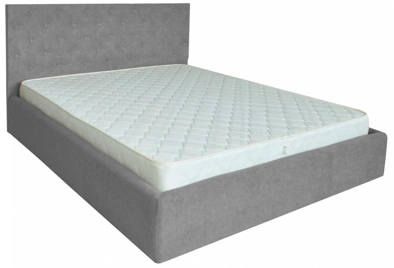 Кровать Richman Ковентри VIP 120 х 190 см Мисти Grey С дополнительной металлической цельносварной рамой Серая